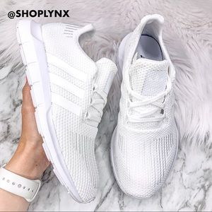 Adidas Swift Run Sneaker in White